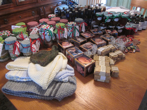 Homemade gifts – holidays, birthdays – this is a good idea bank. I am all about