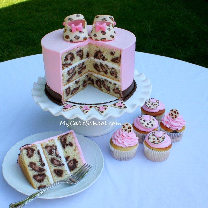 How to make cake effects. Leopard print, zebra, polka dot, rainbow, etc.