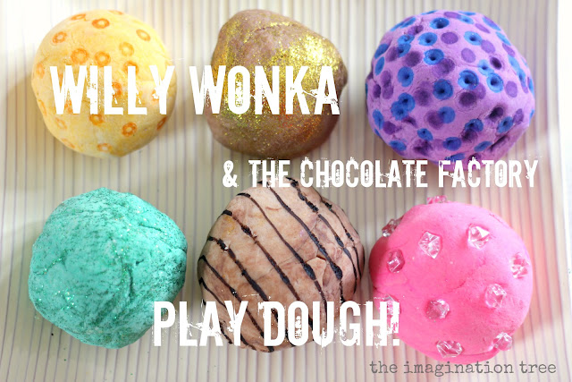 How to create some whacky play dough for Willy Wonka imaginative play and story