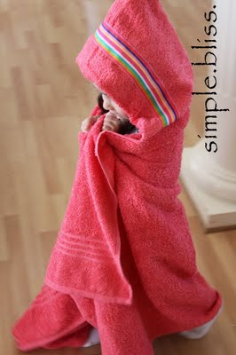 How to make a hooded towel. We received this as a gift and it is the BEST towel