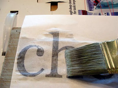 Easy way to transfer ink from paper onto wood for a homemade sign.
