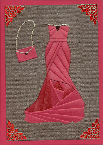 Iris Folding Pattern… Evening Gown (and tons of other patterns on this site, t