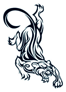 Tiger/Panther Henna Tattoo Design