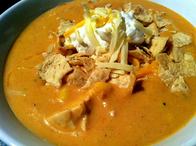 Chili's Chicken Enchilada Soup…in the Crock Pot!