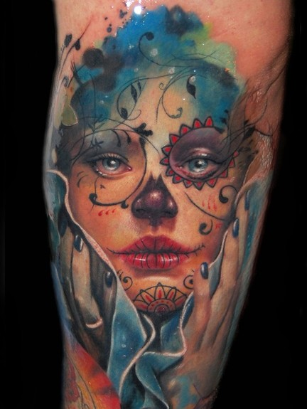Looking for unique Alex De Pase Tattoos?  Day of the Dead tattoo