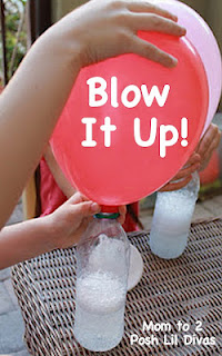 No helium needed to fill balloons for parties…..just vinegar and baking soda!