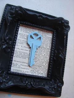 Frame the key from your first home together – would be cute with a street map be