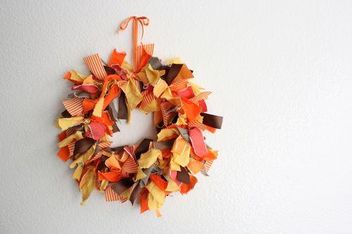 Fabric Scrap Wreaths