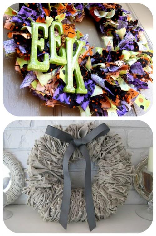 Felt wreath in gray- love
