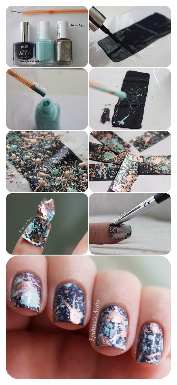 Spektor's Nails: Galaxy Splatter Nails Tutorial