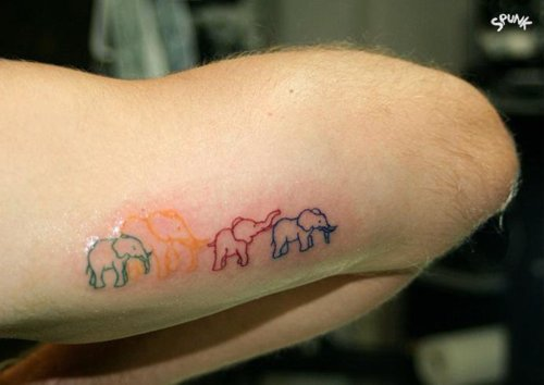 Colorful elephants!