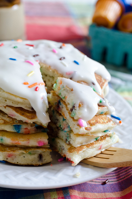 Birthday Cake Pancakes! I want these!