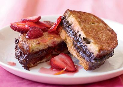 Flat Belly Diet Recipes: chocolate stuffed french toast
