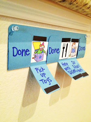 File folder chore chart – love this for the kids!