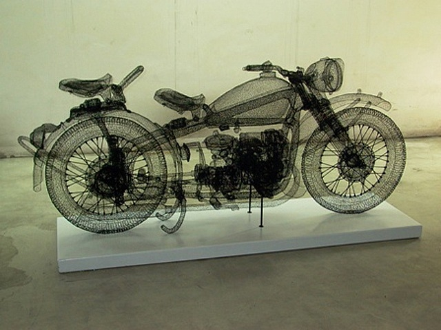 Shi Jindian, Changjiang 750 with 2 Wheels – crochet wire