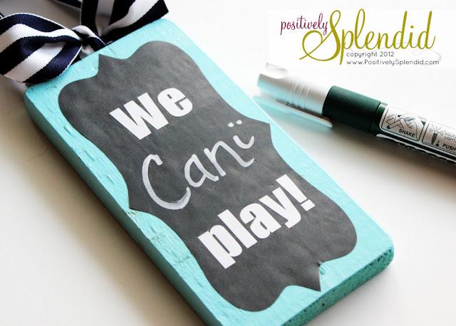 clever playtime door hanger – chalkboard vinyl