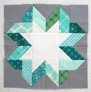 Ribbon star – this quilter has a great example of other colors to use but this o