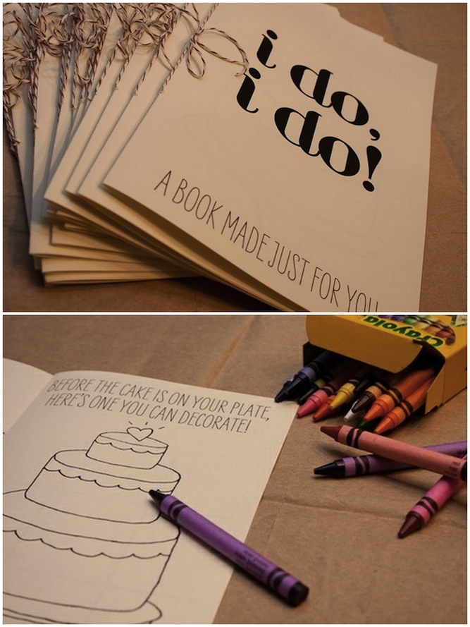 Kid activity book at a wedding- good to have to keep all the little ones busy at