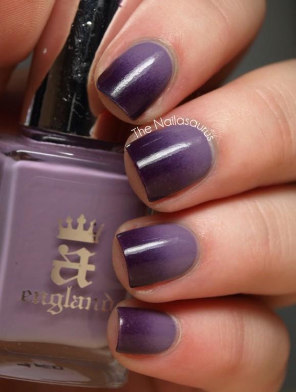 fading purple #nails