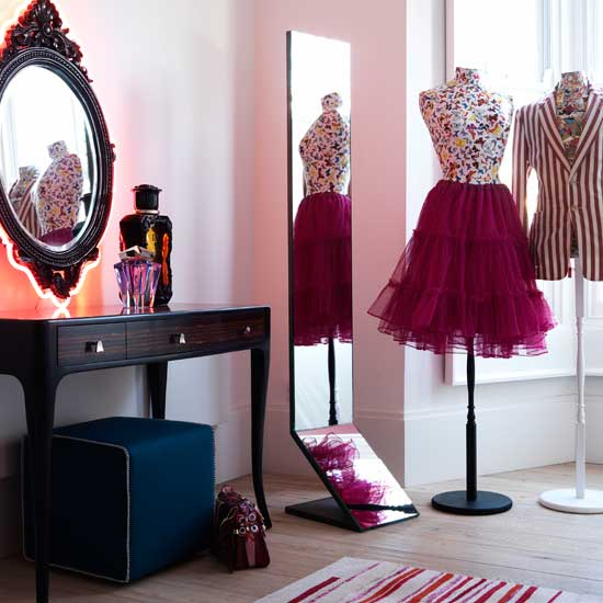 gathering decorating ideas for the dressing room we're creating for  models/