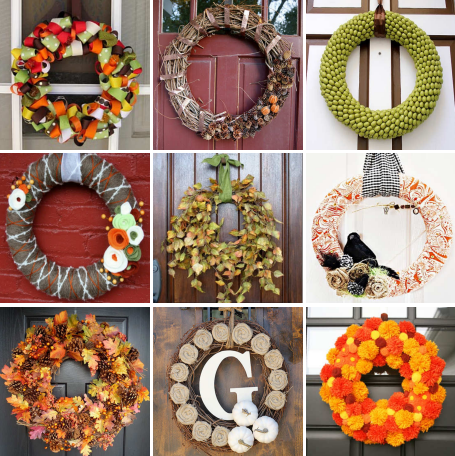 30 DIY fall wreaths.