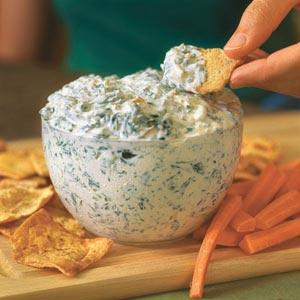 Healthy Spinach Dip – secret ingredient… cottage cheese!! :)
