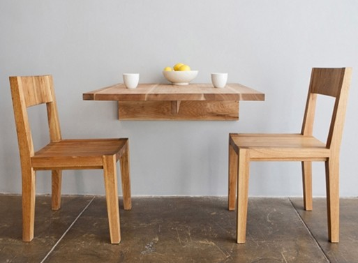 Perfect, wall-mounted small kitchen table.