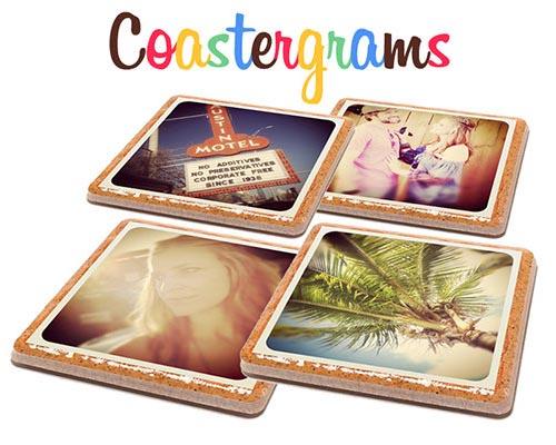 Customizable Instagram Coaster Set, very cute gift