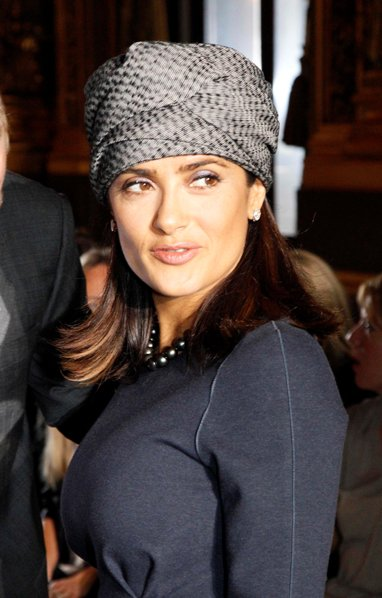 Salma Hayeks turban hairstyle