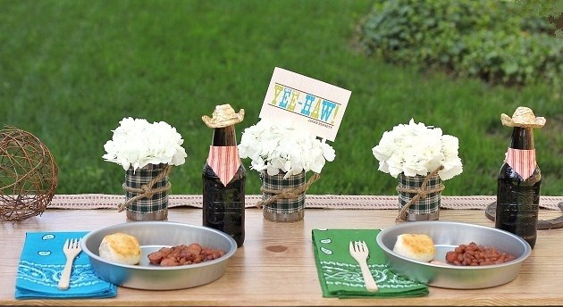 cowboy theme party -love the plates