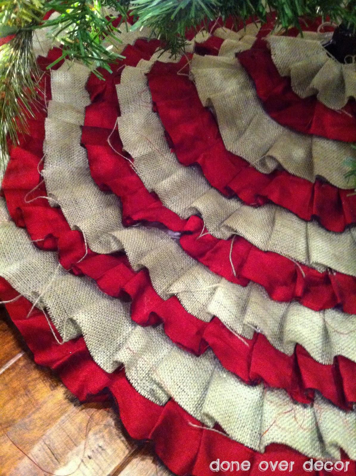 DIY Ruffle Tree Skirt – No sewing! Rustic chic!