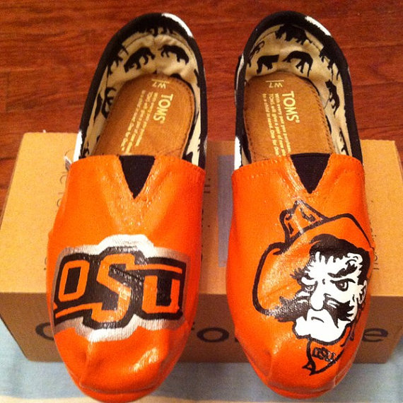 Oklahoma State University OSU Cowboys hand by HillCountryBoutique