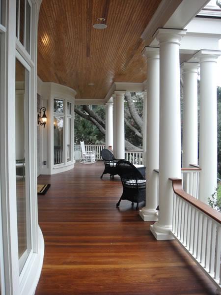 wrap-around front porch