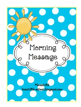 FREE – Easy Morning Messages #1 –   perfect for those days when you get pulled i