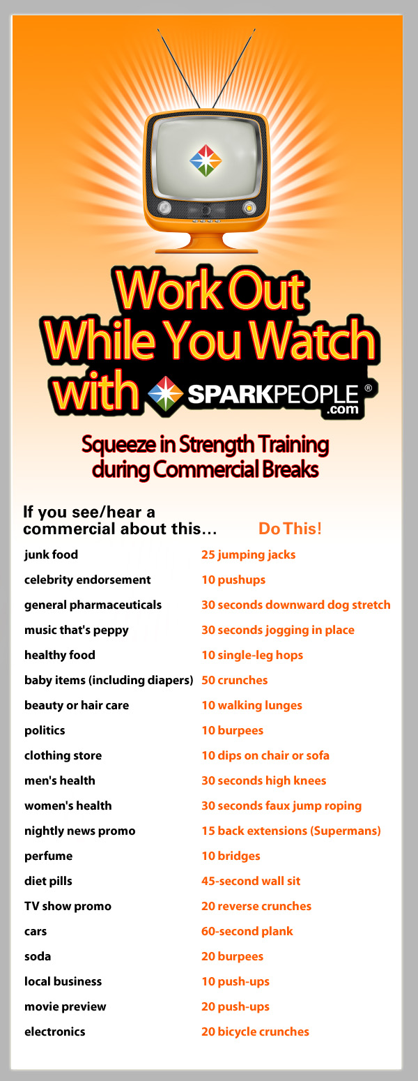 Commercial Break Workouts for when I'm not using the DVR