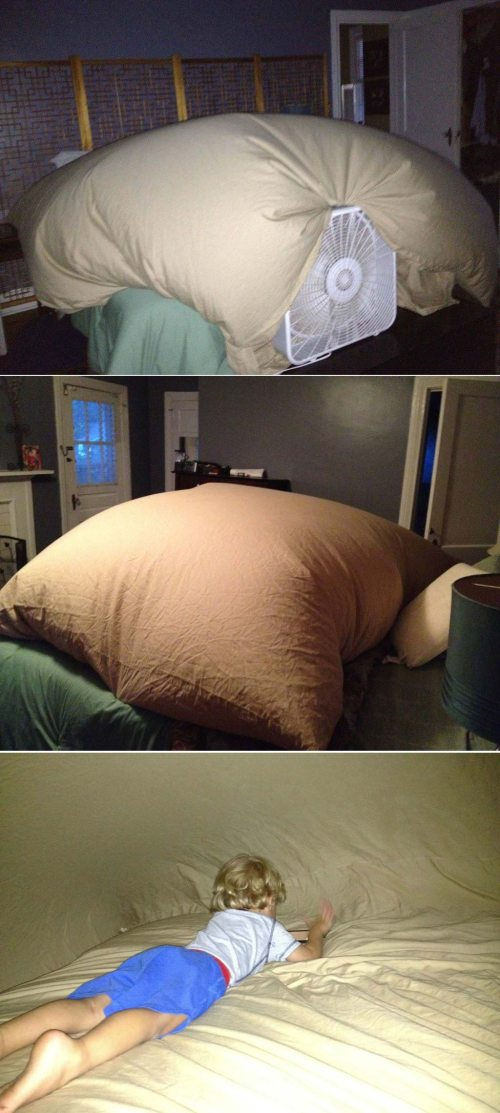 the blanket fort will never be the same after this…