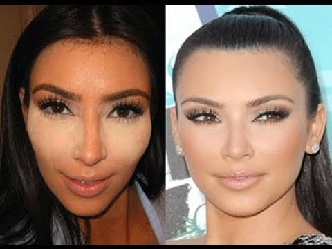 Kim Kardashian Glowing Skin tutorial… re-repinning because I tried this today