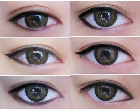 the way you apply eyeliner can really change the shape of your eyes