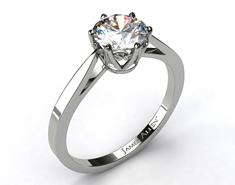Platinum 2.1mm Timeless Round Solitaire Diamond Rings $1,340