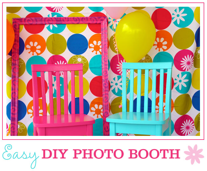 DIY photo booth at a party