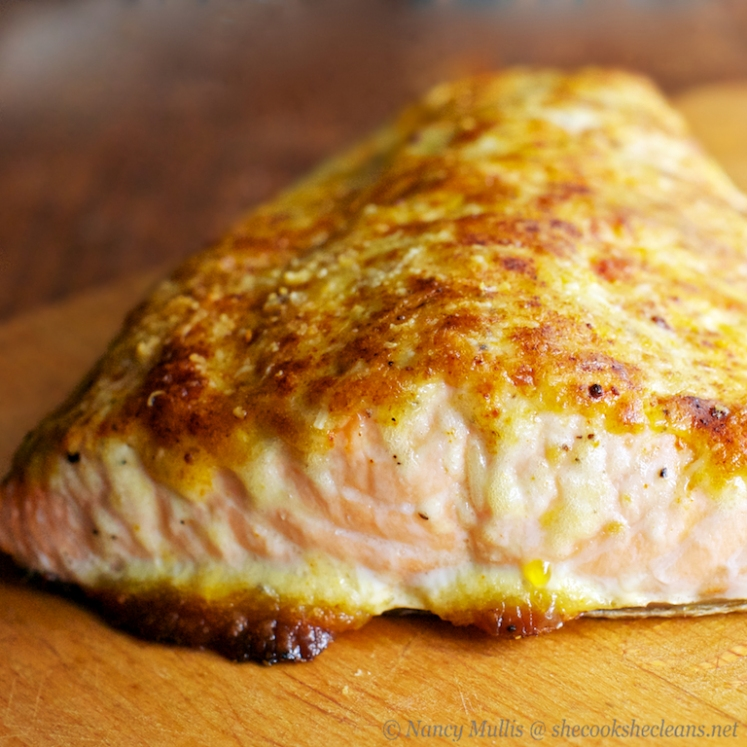 Parmesan-Mayo Crusted Salmon