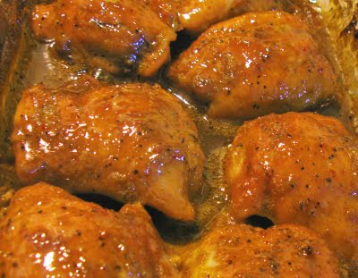 3 ingredient Simply Great Chicken – all you need is chicken, brown sugar and Ita
