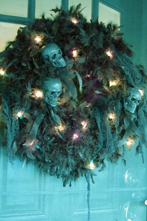 halloween wreath: tutorial