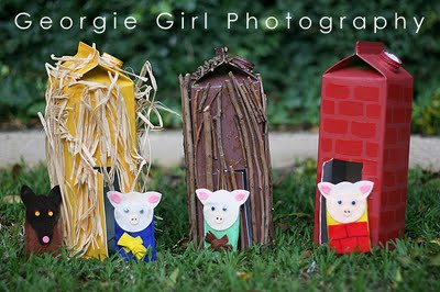 Three little pigs – ohh these are so so cute!