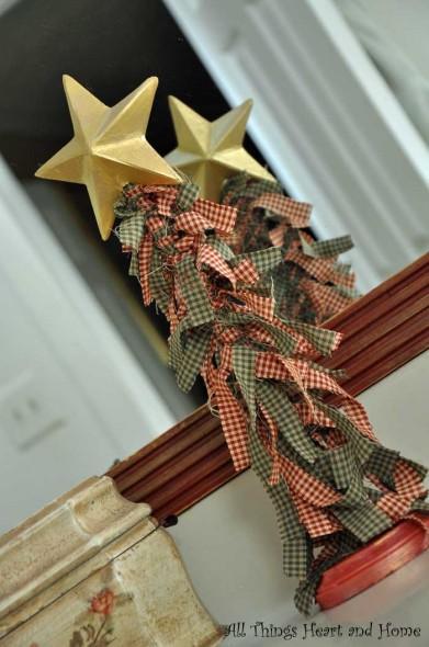 Easy Fabric Scrap Christmas Tree!