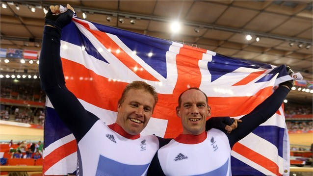 Craig Maclean (pilot) and Anthony Kappes of Great Britain celebrate after winnin