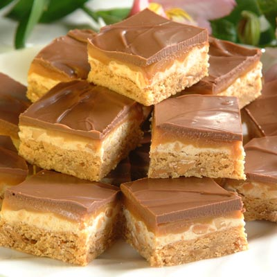 Nutty Nougat Caramel Bites – These 4 layer bars are always a huge hit but they a