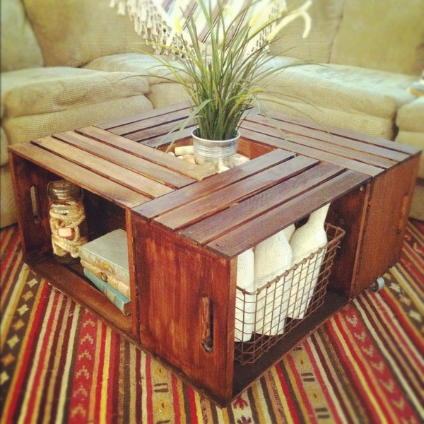 crates from michaels. stain or paint. love this!!!!