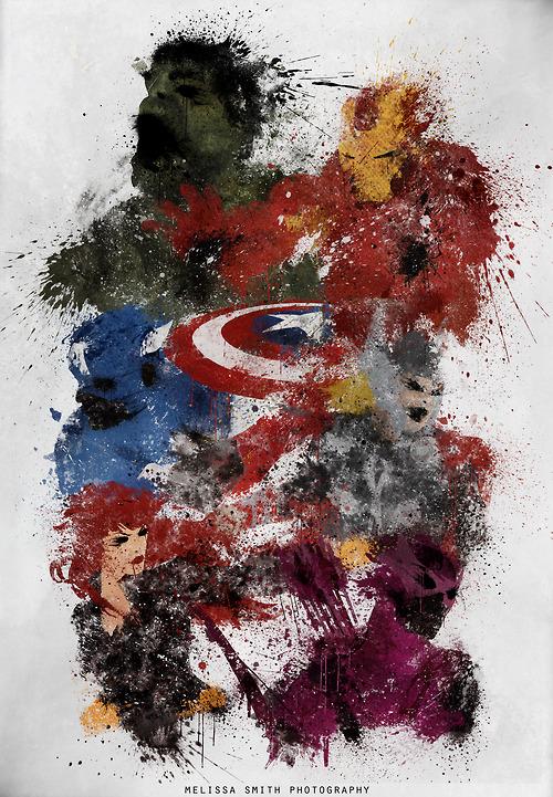 Avenvers Assemble Splatter Art by MelissaSmith