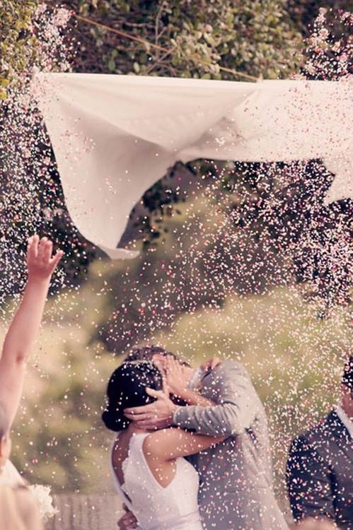 """When the officiant says, """"kiss the bride"""" the maid of honor and best"""